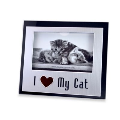 I Love My Cat 4-Inch x 6-Inch Photo Frame