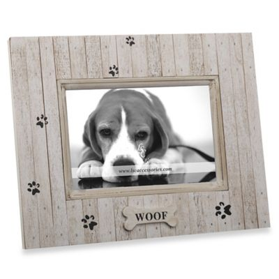 Woof 4-Inch x 6-Inch Dog Pet Photo Frame