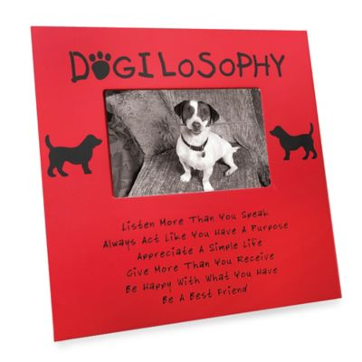 Dogilosophy 4-Inch x 6-Inch Pet Photo Frame