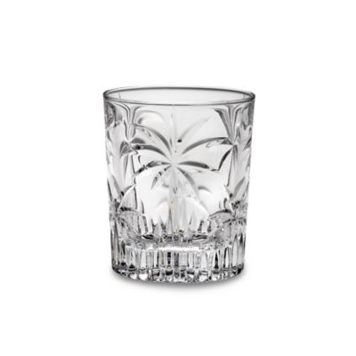 South Beach Palm 10 1/2-Ounce Double Old-Fashioned (Set of 4)