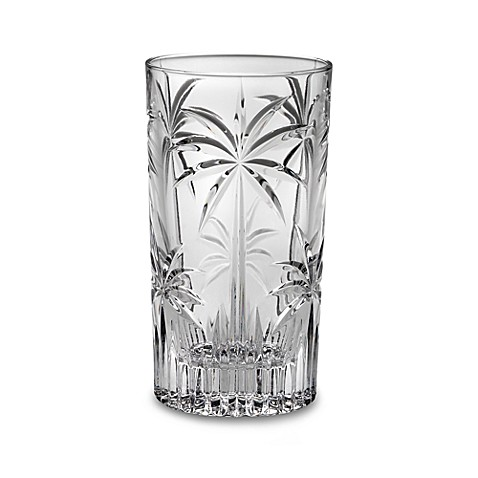 Godinger Dublin Crystal South Beach Palm 11 1/2-Ounce Highball (Set of 4)