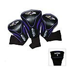 Baltimore Ravens 3-Pack Contour Golf Club Headcovers