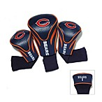 Chicago Bears 3-Pack Contoured Golf Club Headcovers