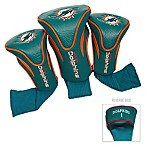 NFL Miami Dolphins 3-Pack Contour Golf Club Headcovers