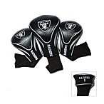 NFL Oakland Raiders 3-Pack Contour Golf Club Headcovers