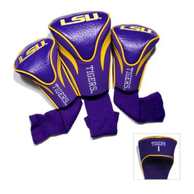 LSU 3-Pack Contour Golf Club Headcovers