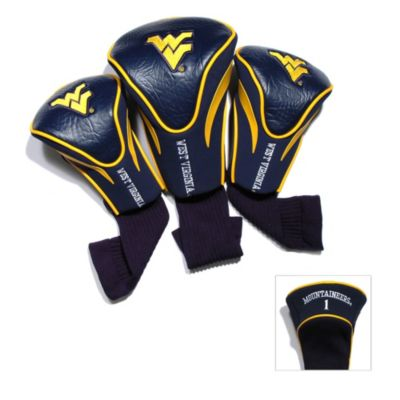 West Virginia University 3-Pack Contour Golf Club Headcovers