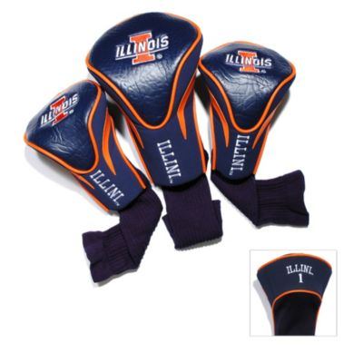 University of Illinois 3-Pack Contour Golf Club Headcovers
