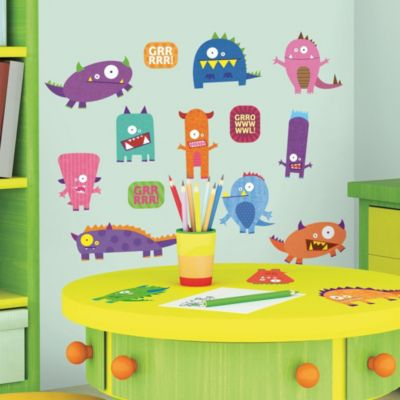 RoomMates Monsters Peel & Stick Wall Decals