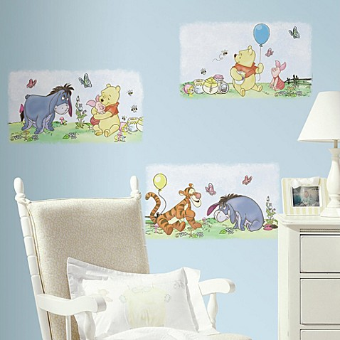RoomMates Pooh & Friends Poster Peel & Stick Wall Decals