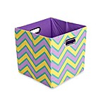 Modern Littles Sweets Canvas Folding Storage Bin in Zig Zag