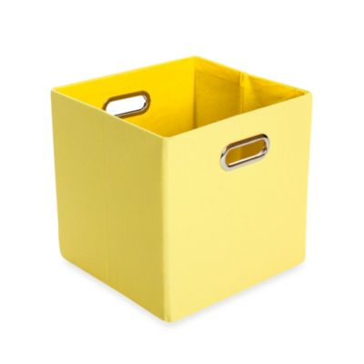 GiggleDots Sweets Canvas Folding Storage Bin in Solid Yellow
