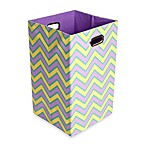 Modern Littles Sweets Canvas Folding Laundry Bin in Zig Zag