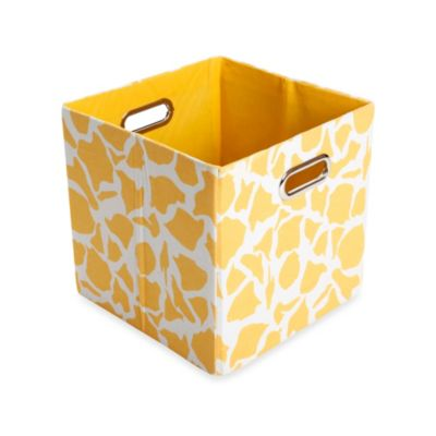 Modern Littles Rusty Canvas Folding Storage Bin in Giraffe
