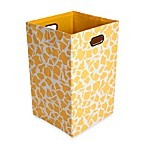 GiggleDots Rusty Canvas Folding Laundry Bin in Giraffe