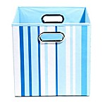 Modern Littles Sky Canvas Folding Storage Bin in Stripes