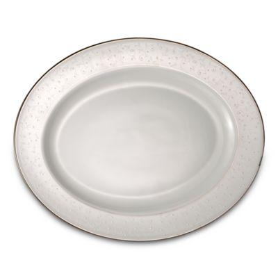 Lenox® Opal Innocence™ 16-Inch Oval Platter in White/Platinum
