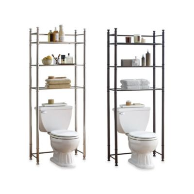 Satin Nickel Bathroom Shelving