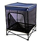 Quik Shade Small Instant Pet Kennel with Mesh Walls and Elevated Mesh Bed in Navy