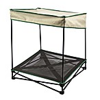 Quik Shade Small Outdoor Instant Pet Shade with Elevated Mesh Bed in Tan