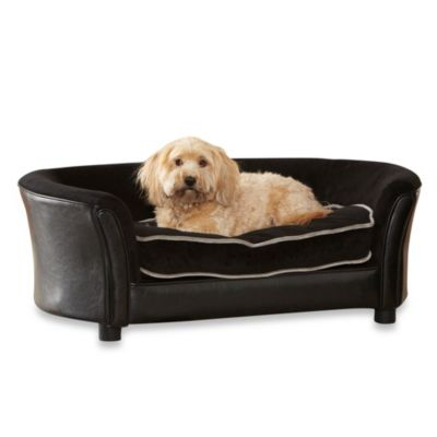 Enchanted Home Pet Ultra Plush Panache Sofa in Black