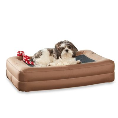 Enchanted Home Pet Outdoor Inflatable Pet Air Bed in Brown