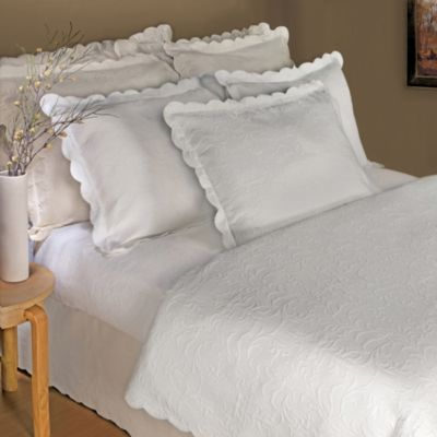 Majestic King Pillow Sham in White