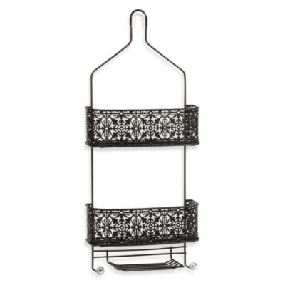 Taymor® Lace Shower Caddy with Acrylic Finials in Oil Rubbed Bronze