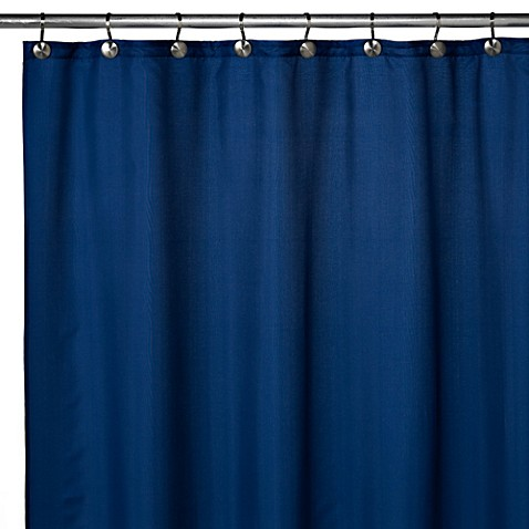 Buy Hotel Fabric 70 Inch X 72 Inch Shower Curtain Liner In Navy From Bed Bath