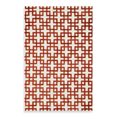 Loloi Rugs Charlotte 7-Foot 6-Inch x 9-Foot 6-Inch Rug in Ivory/Rust