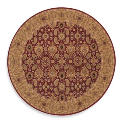 Couristan® Royal Kashimar All Over Vase 6-Foot 6-Inch Round Rug in Persian Red