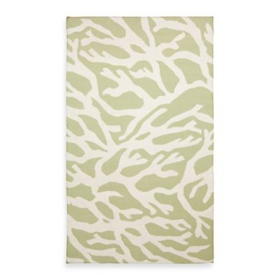 Astatula Rug in Lettuce Leaf with White