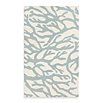 Astatula Coral Rug in White with Powder Blue