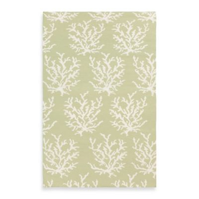 Aventura Rug in Lettuce Leaf with White