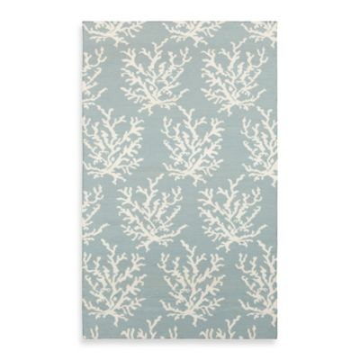 Aventura 2-Foot 6-Inch x 8-Foot Rug in Powder Blue with White