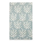 Aventura Rug in Powder Blue with White