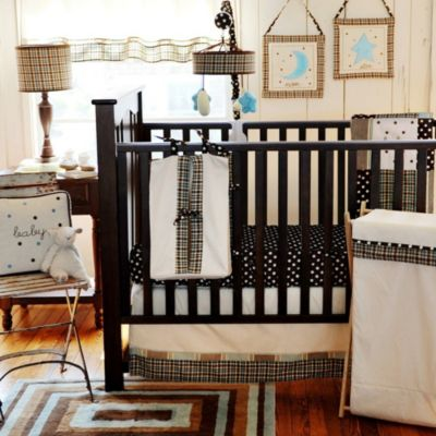 My Baby Sam Mad About Plaid 3-Piece Crib Bedding Set in Blue