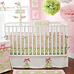 My Baby Sam Pixie Baby 3-Piece Crib Bedding Set in Pink/Green Paisley