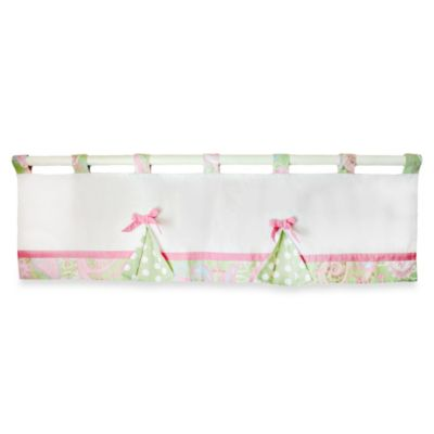 My Baby Sam Pixie Baby Window Valance Pink Polka Dot/Paisley