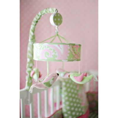 My Baby Sam Pixie Baby Musical Mobile in Green/Pink