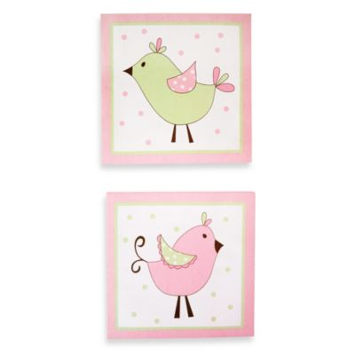 My Baby Sam Pixie Baby 2-Piece Wall Art in Pink