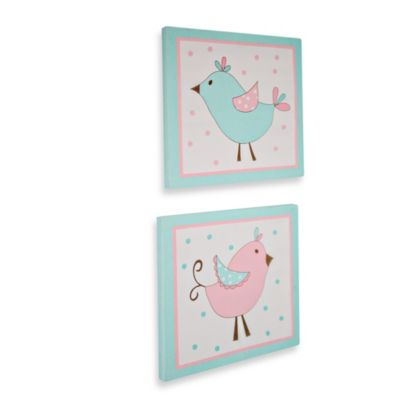 My Baby Sam Pixie Baby 2-Piece Wall Art in Aqua