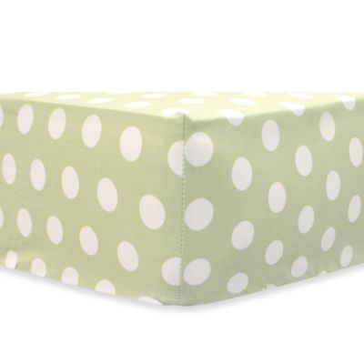 My Baby Sam Pixie Baby Crib Sheet in Pink/Green