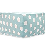 My Baby Sam Pixie Baby Crib Sheet in Aqua Polka Dot