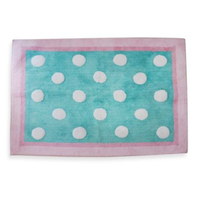 My Baby Sam Pixie Baby Rug in Aqua