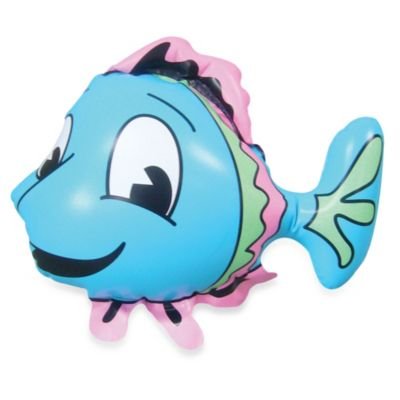 KEL-GAR Inflatable Smiley Fish Faucet Cover & Bubble Bath Dispenser