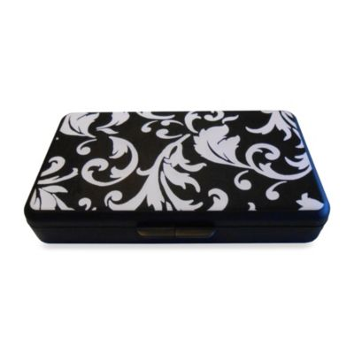 K Quinn Designs Black/White Damask Wipe Clutch