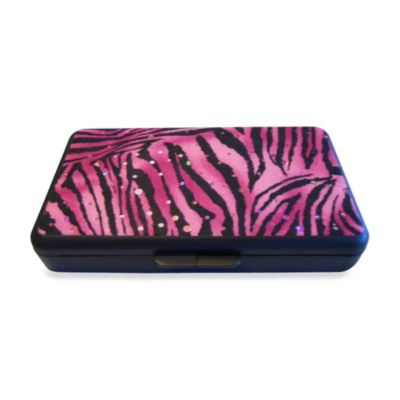 K Quinn Designs Pink Sparkling Zebra Wipe Clutch