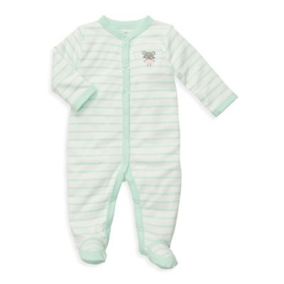 Carter's® Mint Stripe Cotton Snap-Up Sleep & Play - Preemie