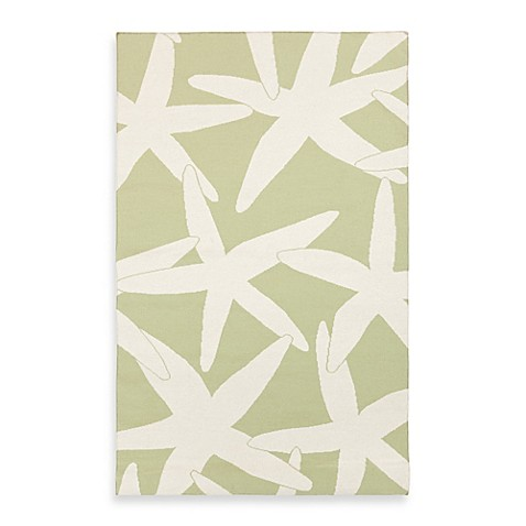 Harbor Rug in Lettuce Leaf with White